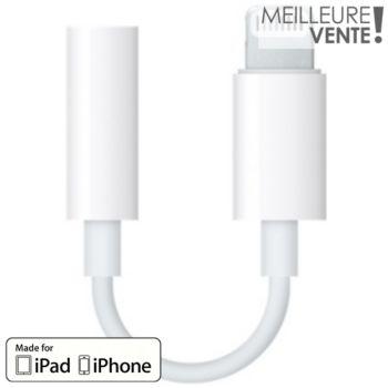 Apple Lightning vers mini-jack 3.5mm