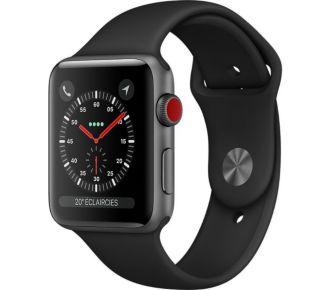 Apple Watch 42MM Alu Gris/Noir Series 3 Cellular