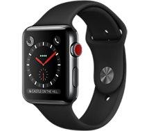 Montre connectée Apple Watch 42MM Acier/Noir Series 3 Cellular