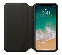 Etui Apple  iPhone X Cuir noir