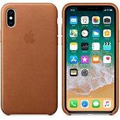 Coque Apple iPhone X cuir havane