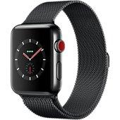 Montre connectée Apple Watch 42MM Acier/Milanais noir Series 3 Cell