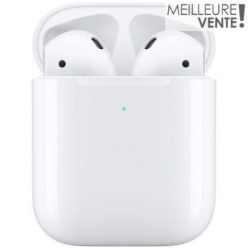 Apple AirPods 2 + étui de charge sans fil