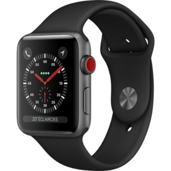 Apple Watch 42MM Alu Gris/Noir Series 3 Cellular