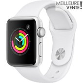 Montre connectée Apple Watch 38MM Alu Argent / Blanc Series 3