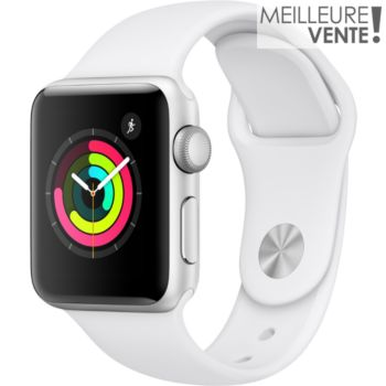 Apple Watch 38MM Alu Argent / Blanc Series 3