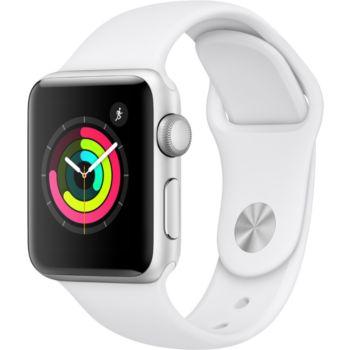Apple Watch 38MM Alu Argent / Blanc Series 3