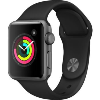 Apple Watch 38MM Alu Gris/Noir Series 3