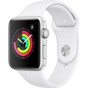 Apple Watch 42MM Alu Argent / Blanc Series 3