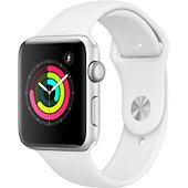 Montre connectée Apple Watch 42MM Alu Argent / Blanc Series 3