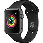 Montre connectée Apple Watch 42MM Alu Gris/Noir Series 3