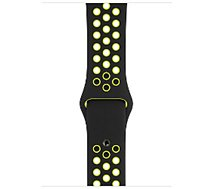 Bracelet Apple  44 mm Sport Nike noir/volt