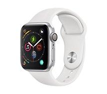 Montre connectée Apple Watch 40MM Alu Argent / Blanc Series 4