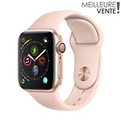 Montre connectée Apple Watch 40MM Alu Or / Rose Series 4