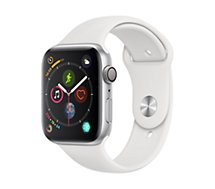 Montre connectée Apple Watch 44MM Alu Argent / Blanc Series 4