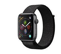Montre connectée Apple Watch 44MM Alu Gris / Boucle Noir Series 4