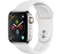 Montre connectée Apple Watch 40MM Alu Argent/Blanc Series 4 Cellular