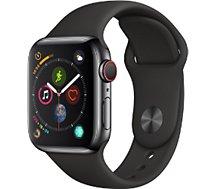 Montre connectée Apple Watch  40MM Alu Gris / Noir Series 4 Cellular