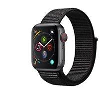 Montre connectée Apple Watch 40MM Alu Gris/Boucle Noire Series 4 Cell