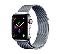 Montre connectée Apple Watch 40MM Acier/Boucle Milanais Series 4 Cell