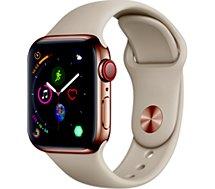 Montre connectée Apple Watch 40MM Acier Or/Gris sable Series 4 Cell