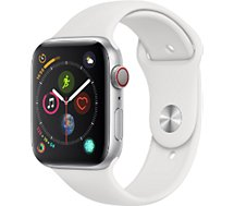 Montre connectée Apple Watch 44MM Alu Argent/Blanc Series 4 Cellular