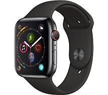 Montre connectée Apple Watch  44MM Alu Gris / Noir Series 4 Cellular
