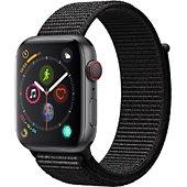 Montre connectée Apple Watch 44MM Alu Gris/Boucle Noire Series 4 Cell
