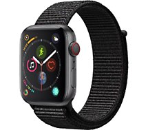 Montre connectée Apple Watch 44MM Alu Gris/Boucle Noire Series 4 Cell