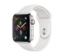 Montre connectée Apple Watch 44M Acier / Blanc Series 4 Cell