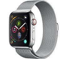 Montre connectée Apple Watch  44MM Acier/Milanais Series 4 Cell