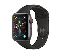 Montre connectée Apple Watch 44MM Acier Noir / Noir Series 4 Cell