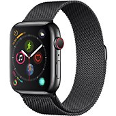 Montre connectée Apple Watch 44MM Acier Noir/Mil Noir Series 4 Cell