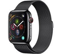Montre connectée Apple Watch  44MM Acier Noir/Mil Noir Series 4 Cell