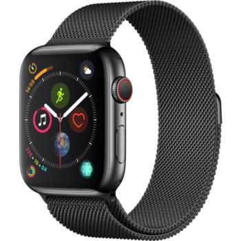 Apple Watch 44MM Acier Noir/Mil Noir Series 4 Cell