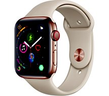 Montre connectée Apple Watch  44MM Acier Or/Gris sable Series 4 Cell