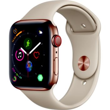 Apple Watch 44MM Acier Or/Gris sable Series 4 Cell