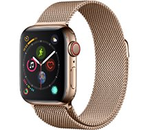 Montre connectée Apple Watch 44MM Acier Or/Mil Or Series 4 Cell