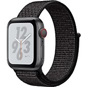 Montre connectée Apple Watch Nike+40MM Alu Gris/Bouc Noir Serie 4 Cel