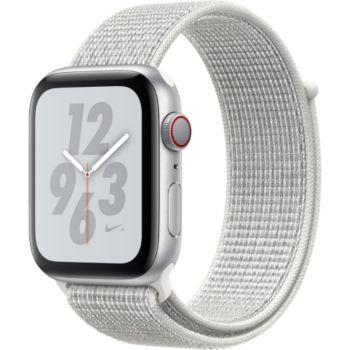 Apple Watch Nike+44MM Alu Arg/Bouc Blanc Serie 4 Cel