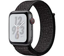 Montre connectée Apple Watch Nike+44MM Alu Gris/Bouc Noir Serie 4 Cel