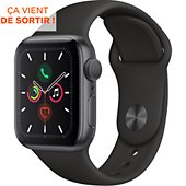 Montre connectée Apple Watch 40MM Alu Gris / Noir Series 5