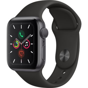 Apple Watch 40MM Alu Gris / Noir Series 5 				 			 			 			 				reconditionné
