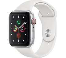 Montre connectée Apple Watch  44MM Alu Argent/Blanc Series 5 Cellular