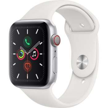 Apple Watch 44MM Alu Argent/Blanc Series 5 Cellular