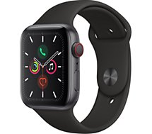 Montre connectée Apple Watch  44MM Alu Gris/Noir Series 5 Cellular