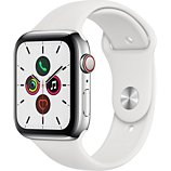 Montre connectée Apple Watch  44MM Acier/Blanc Series 5 Cellular