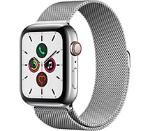 Montre connectée Apple Watch  44MM Acier/Boucle Milanais Series 5 Ce