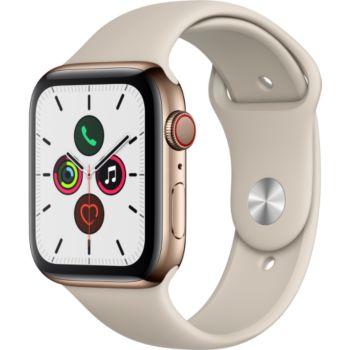 Apple Watch 44MM Acier Or/Gris Sable Series 5 Cellul