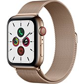 Montre connectée Apple Watch 44MM Acier Or/Boucle Or Mil Series 5 Cel